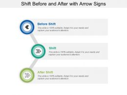 Shift Before And After With Arrow Signs