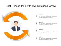 Shift Change Icon With Two Rotational Arrow
