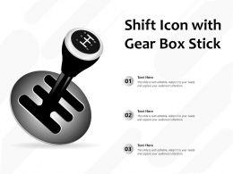 Shift Icon With Gear Box Stick