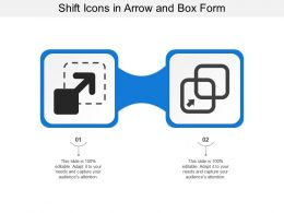 Shift Icons In Arrow And Box Form