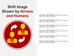 Shift Image Shown By Arrows And Humans