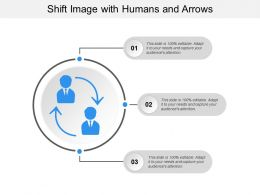 Shift Image With Humans And Arrows
