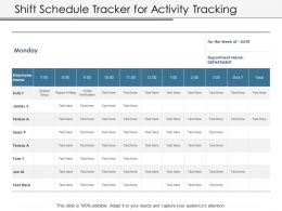Shift Schedule Tracker For Activity Tracking