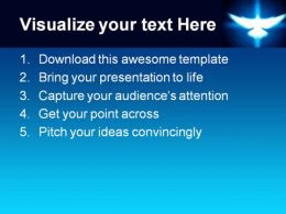 Shinning Dove Religion PowerPoint Template 0610  Presentation Themes and Graphics Slide02