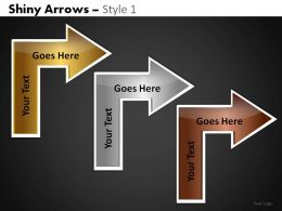 Shiny Arrows 1 Powerpoint Presentation Slides DB