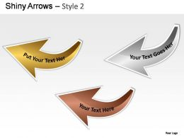 Shiny Arrows Style 2 Powerpoint Presentation Slides