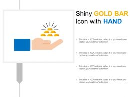Shiny Gold Bar Icon With Hand