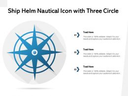 Ship Helm Nautical Icon With Three Circle