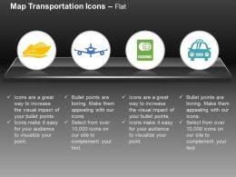 ship Plane Passport Car Transport Ppt Icons Graphics