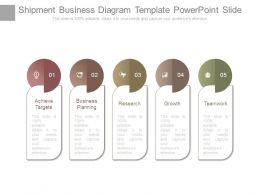 Shipment Business Diagram Template Powerpoint Slide