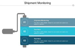 Shipment Monitoring Ppt Powerpoint Presentation Pictures Design Inspiration Cpb