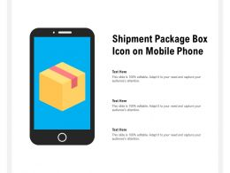 Shipment Package Box Icon On Mobile Phone