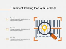 Shipment Tracking Icon With Bar Code