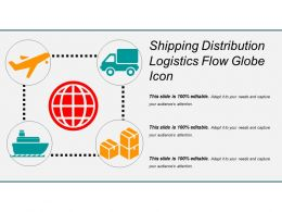 Shipping Distribution Logistics Flow Globe Icon