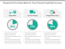Shipping Kpi For Empty Miles On Time Pickups Freight Bill Accuracy Powerpoint Slide