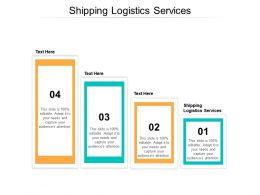 Shipping Logistics Services Ppt Powerpoint Presentation Information Cpb