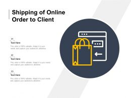 Shipping Of Online Order To Client