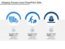 Shipping Process Icons Powerpoint Slide