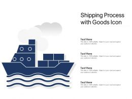 Shipping Process With Goods Icon