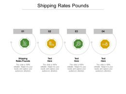 Shipping Rates Pounds Ppt Powerpoint Presentation Professional Infographic Template Cpb