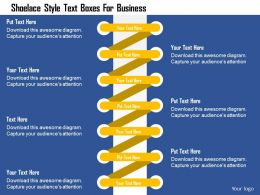 Shoelace Style Text Boxes For Business Flat Powerpoint Design