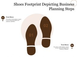 Shoes Footprint Depicting Business Planning Steps