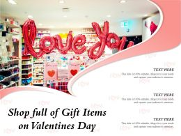 Shop Full Of Gift Items On Valentines Day