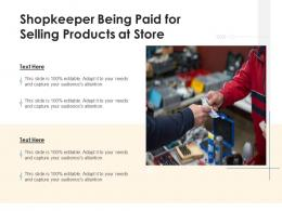 Shopkeeper Being Paid For Selling Products At Store