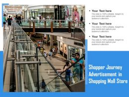 Shopper Journey Advertisement In Shopping Mall Store