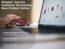 Shopper Journey Customer Purchasing New Product Online