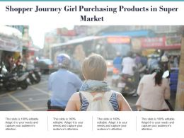 Shopper Journey Girl Purchasing Products In Super Market