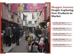 Shopper Journey People Exploring New Products In Market
