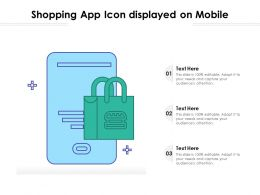 Shopping App Icon Displayed On Mobile