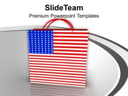 Shopping Bag Symbol Of Americana PowerPoint Templates PPT Themes And Graphics 0313