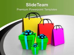 Shopping Bags And Gifts Festival PowerPoint Templates PPT Themes And Graphics 0113