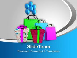 Shopping Bags And Gifts Sales PowerPoint Templates PPT Themes And Graphics