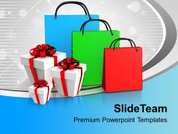 Shopping Bags And Presents PowerPoint Templates PPT Themes And Graphics 0113