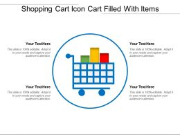 Shopping Cart Icon Cart Filled With Items