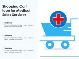 Shopping Cart Icon For Medical Sales Services