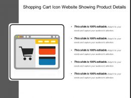Shopping Cart Icon Website Showing Product Details