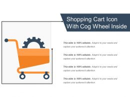 Shopping Cart Icon With Cog Wheel Inside