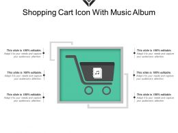 Shopping Cart Icon With Music Album