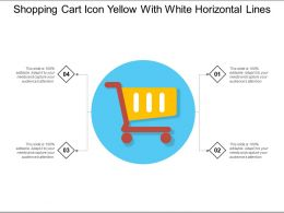 Shopping Cart Icon Yellow With White Horizontal Lines