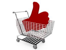 Shopping Cart With Red Color Like Symbol Stock Photo