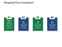 Shopping Price Comparison Ppt Powerpoint Presentation Gallery Background Image Cpb