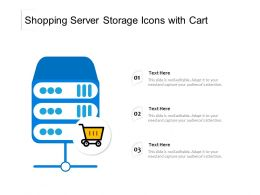 Shopping Server Storage Icons With Cart