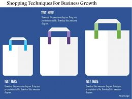 Shopping Techniques For Business Growth Flat Powerpoint Design