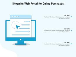 Shopping Web Portal For Online Purchases