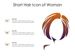 Short Hair Icon Of Woman