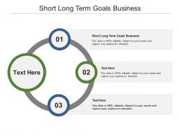 Short Long Term Goals Business Ppt Powerpoint Presentation Styles Portfolio Cpb